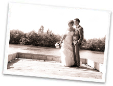 Wedding photo session in sepia